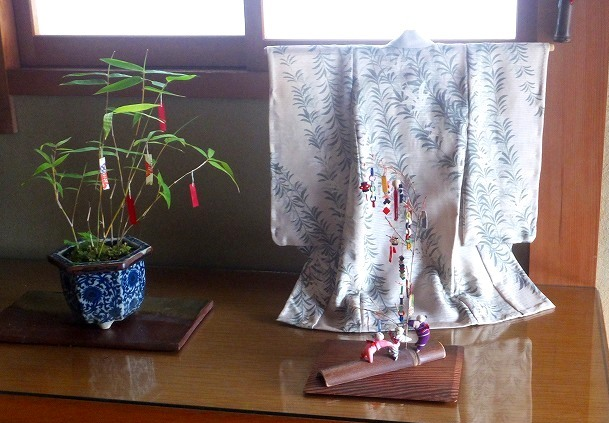 七夕飾り夏の着物H30-6