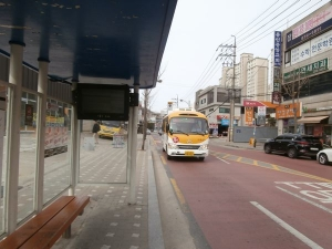 駒城駅へ向かうバス