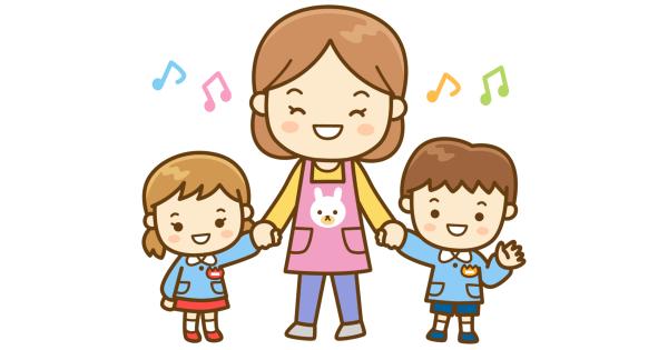 保育士さんと園児たち