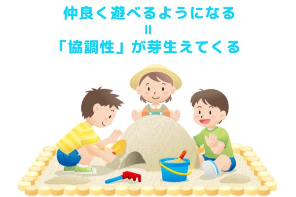 砂場で仲良く遊ぶ子どもたち