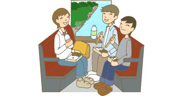 友達と電車で旅行