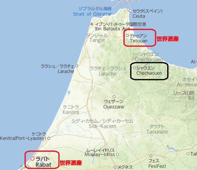 ティトゥアン地図