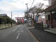 六所神社の鳥居 帰り道