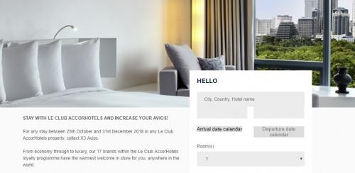 アコーホテル ブリティッシュエアウェイズトリプルアビオスキャンペーン