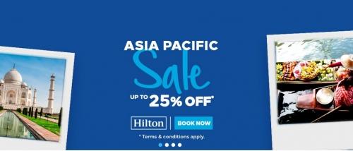 ヒルトンオナーズはアジア太平洋地域を対象に25%OFFセールを開催