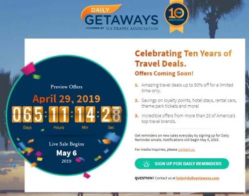 1米国旅行協会が主催するプロモーションDaily Getaways を今年も開催