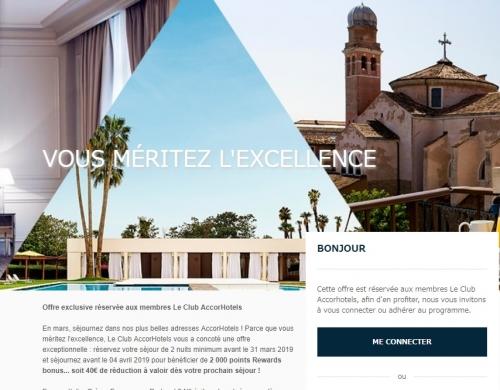 ルクラブアコーホテルズ フランス、スペイン、イタリア、ギリシャでの宿泊で2,000ボーナスポイント