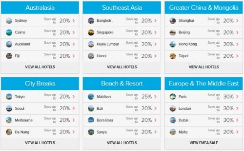 1ヒルトンオーナーズ世界中の加盟ホテルで最大35%OFFセール アジア太平洋地域も1