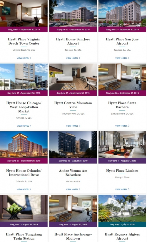 1ワールドオブハイアット新しく加盟したホテルを対象に1泊あたり500ボーナスポイントキャンペーン1