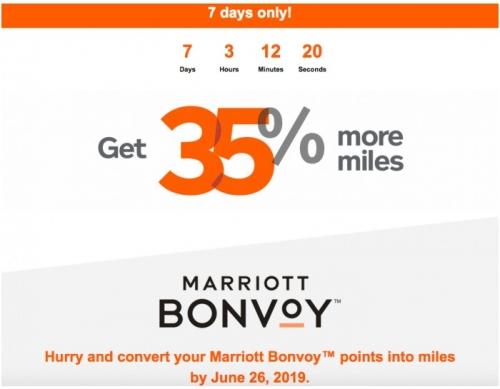 1マリオット Bonvoyからエアカナダのエアロプランにポイント移行すると35%がもらえるボーナスマイルキャンペーン