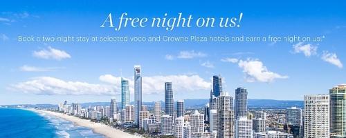 IHGリワードクラブ オーストラリアおよびニュージーランドの一部のホテルで2泊後に1泊無料宿泊