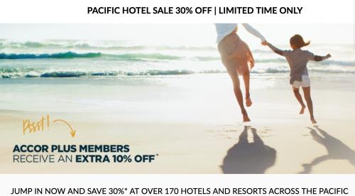 Le Club AccorHotels 太平洋の滞在で最大30%OFFセール