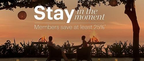 IHGリワードクラブ世界中を対象にした25%OFFセール「Stay In The Moment」