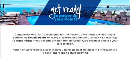 ヒルトンオナーズでトリプルポイント「パワーアップ」キャンペーン1