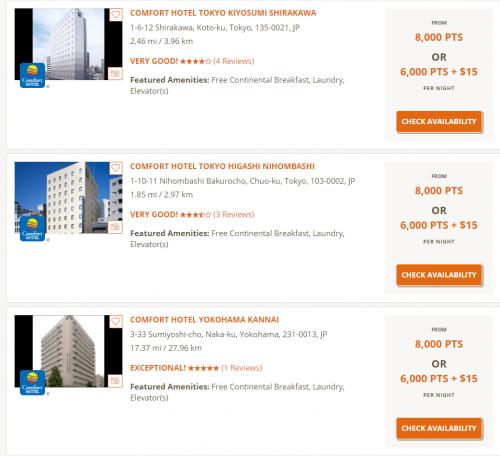 Choice Privilegesで東京やニューヨークでの宿泊が1泊6,500円で滞在できます。