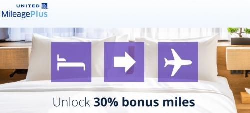 ユナイテッド航空のマイレージプラス ホテルポイント移行で30%ボーナスマイル(ラディソンで95%)