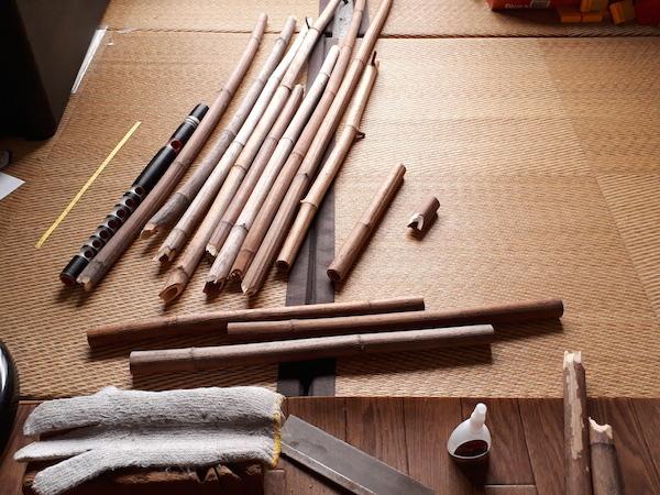 イタドリの龍笛材料