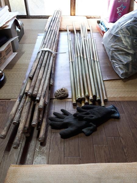 磨き終わった竹