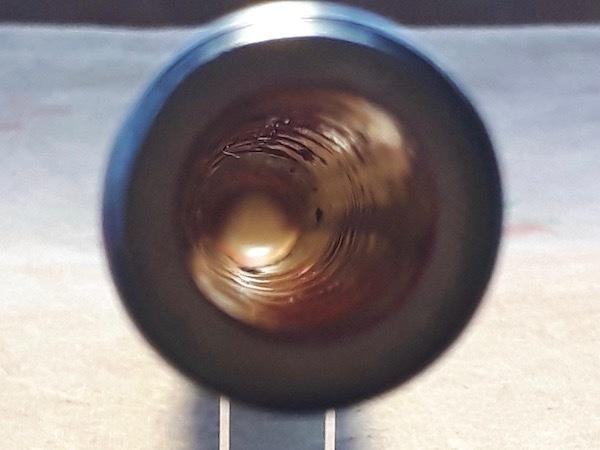 白竹本管の内部