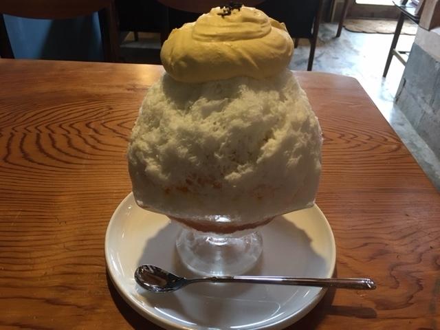 能登かぼちゃクリームかき氷