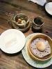 杏仁豆腐と桃まんと中国茶