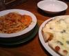 渡り蟹のトマトクリームスパ&4種のチーズのピッツァ@カプリチョーザ