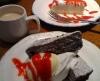生チーズケーキ&本日のホームメイドケーキ@カプリチョーザ