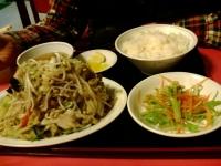 野菜炒め定食@青龍