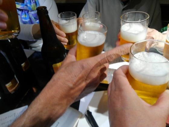 銀漢亭の乾杯