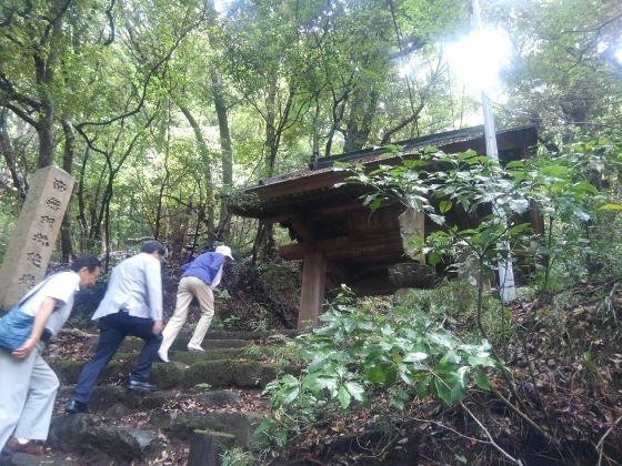箱根のあじさい寺阿弥陀寺への道
