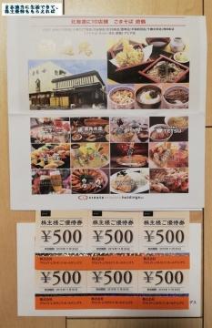 クリエイトレストランツ 優待券3000円相当 201902