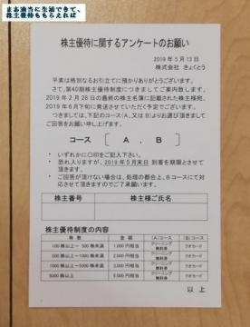 きょくとう 優待案内 201902