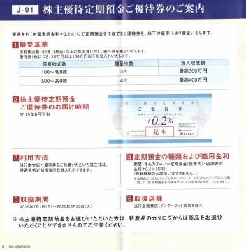北日本銀行 株主優待カタログ01 201903