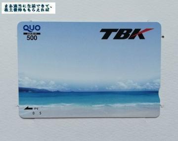 TKB クオカード500円相当 02 201903