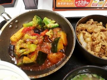 吉野家HD ベジ牛皿定食03 1909 201902