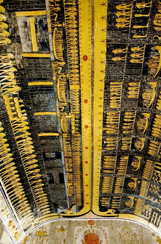 papyrus_14_Tomb_Of_Ramses_VI_Painted _Ceiling