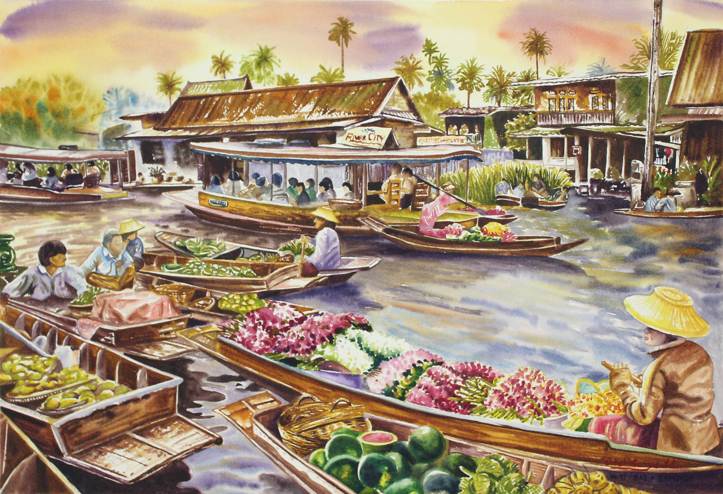 Thailand_04_Wat_Sai_Floating_Market_Original_Watercolor_Painting.jpg
