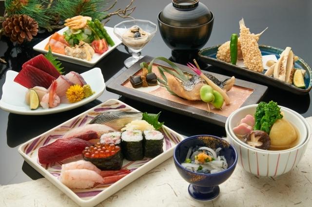 料亭などの日本料理店など、改まった席で会席料理