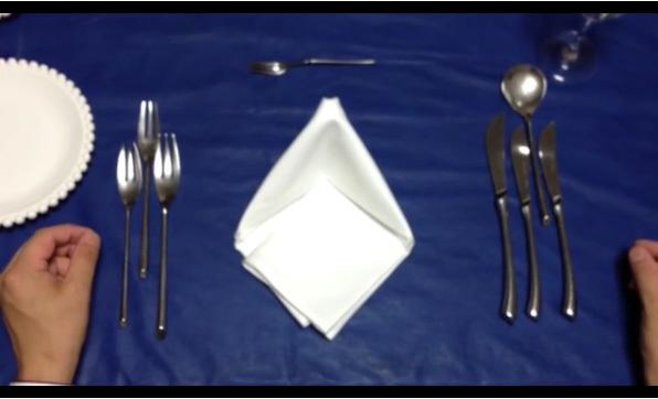 テーブルマナーナイフとフォーク