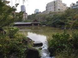 六本木 檜町公園 見事な池2