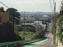 世田谷区岡本 富士見坂から撮った眺望