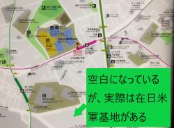 六本木 地下鉄構内地図と在日米軍基地