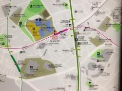 六本木 地下鉄構内地図と在日米軍基地2