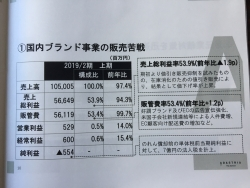 アダストリア 2018年経営報告会 販売苦戦を説明した資料2