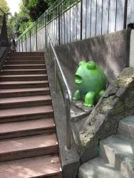 赤坂 一ツ木公園 階段 謎のカエル