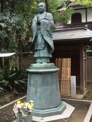 洗足池散策 日蓮聖人像