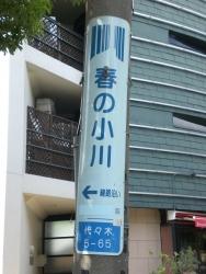暗渠散歩 洗足流れ 渋谷区 電柱の春の小川