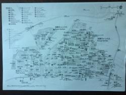 東大散策 地図(白黒)