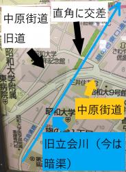 古道 中原街道と立会川1