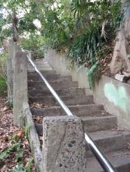 我善坊谷から西久保八幡神社への階段2